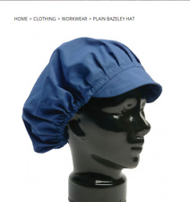 Hats Chefs Blue Catering Bazley Kitchen Cooks Bakers Mens Womens Cap Net Peaked