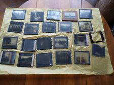 Plaques photographiques sur verre pour projection, anciennes, positifs, photos.