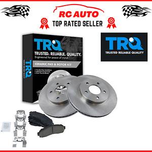 TRQ Front Ceramic Brake Pad & Disc Rotor Kit Fits Chevy Equinox Saturn Vue