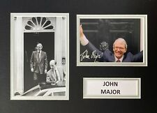 More details for john major hand signed a4 photo mount display uk prime minister autograph 3