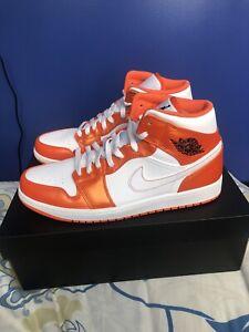 Air Jordan 1 Mid SE 'Electro Orange' Size 10 DM3531-800 Orange/White