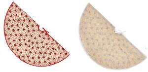 Decoración de Navidad Árbol Falda Rojo Plateado Stars 1m Diámetro PL185719