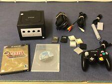 Nintendo GameCube Jet Black Console Zelda The Wind Waker & Wario Ware Inc & More