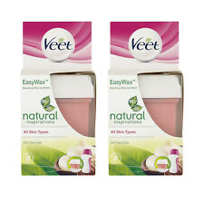 2 X Veet Easy Wax Refill Legs and Arms All Skin Types with Shea Butter 50ml