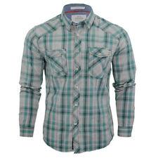 Camicie casual e maglie da uomo verde a scacchi, quadretti