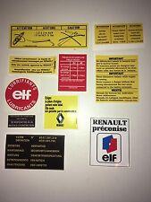 Kit stickers compartiment et carrosserie Renault R5 Alpine & Turbo