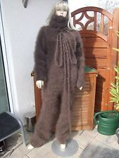 Traummohair Fuzzy longhair mohair Catsuit Sweater overall Neck cuerdas nuevo XL