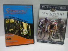 Lot Of 2 Cycling Dvd's Training Videos Spinervals And Train Right criterium