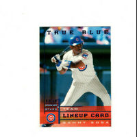 1998 Leaf Rookies & Stars True Blue Sammy Sosa Lineup Card Parallel Cubs OF RARE