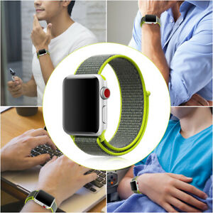For Apple Watch 40mm 44 mm Flash Sport Loop Woven Nylon Sport Watch Band Strap
