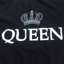 Queen T-Shirt Black Size Medium 100% Cotton Freddy Mercury and Mates.