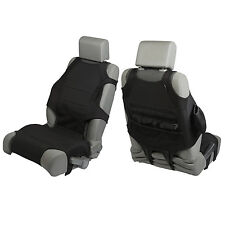 Front Black Neoprene Seat Vests  Jeep Wrangler JK 2007-17 13235.30 Rugged Ridge