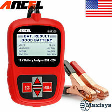 12V Auto Car Battery Tester Digital Vehicle Analyzer 1100CCA ANCEL BST200-US