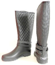 Forever Young Couture Black Rain Boots Size 8 Closeout Sale Free Shipping
