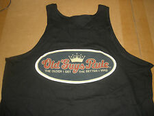"Old Guys Rule "" Crown "" Tank Top Older I Get.The Better I Was Beach Size M"