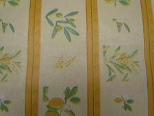 Papier peint, Olive Citron motif feuille, vert jaune résistant
