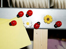Seven cute ladybird & sunflower fridge,memo,decor magnets.  A little gift idea.
