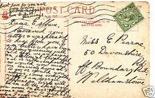 Genealogy Postcard - Family History - Pearne - Walthamstowe - London  BX775