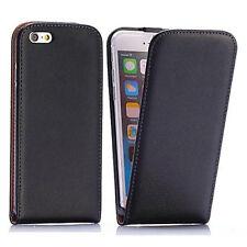 Handy Hülle iPhone 6 6s Cover Schutz Hülle Flip Case Etui Handy Tasche  Schwarz