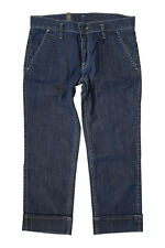 *LACOSTE* WOMEN'S LOW RISE ZIP FLY CAPRI JEANS (36)