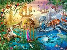Jigsaw Puzzle Fantasy Animals Landscape Shangri-La 750 piece NEW Made in USA