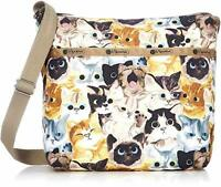 LeSportsac Cat Cafe Bene Small Cleo Crossbody Handbag, Free Ship NWT Cats K812