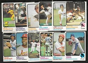1973 OPC O PEE CHEE MLB BASEBALL CARD ERROR & VARIATION 133-264 SEE LIST