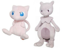 NEW Sanei (Set of 2) Pokemon Stuffed Plush Doll Toys PP20 Mew & PP24 Mewtwo