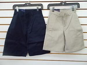 Boys Arrow Khaki or Navy Uniform/Casual Flat Front Shorts Sizes 6, 7, 8 & 10