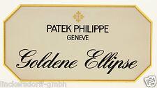 """Patek Philippe """"Ellisse d'Oro"""" - official agent Sign/sul piatto/Display"""