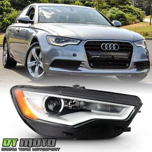 2012-2015 Audi A6 S6 HID w/o AFS LED DRL Projector Headlight Headlamp-Passenger