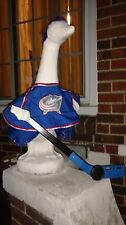 GOOSE CLOTHES LAWN COLUMBUS BLUE JACKETS HOCKEY 24-27 GARDEN DECOR COTTON RED
