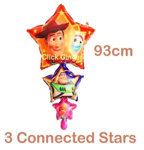 Toy Story Woody Forky Buzz  Bo Peep 3 Tier Star Foil Balloon 93cm Helium