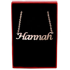 Hannah - Rose Gold Name Necklace - Personalized Jewellery - Italic Christmas