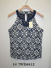 Lucky Brand,Women's Paisley Crochet Tanks.New with Tags