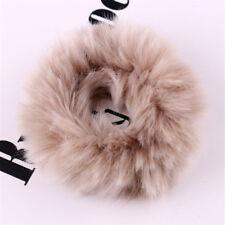 1x Girls Fluffy Faux Fur Fuzzy Scrunchie Elastic Hair Ring Soft Rope Accessories