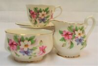 Royal Albert Tea for 1 Cup & Saucer Milk Jug Sugar Bowl  Un- Named Pattern 167