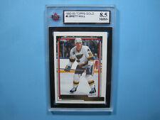 1992/93 TOPPS NHL HOCKEY GOLD CARD #2 BRETT HULL KSA 8.5 NM/MT+ SHARP+ 92/93