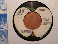 APPLE 45 RECORD/BEATLES/GET BACK/DON'T LET ME DOWN/ CAPITOL LOGO/ VG+