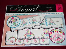 VTG. VOGART #287- BEAUTIFUL HIS & HERS - FLORAL EMBROIDERY TRANSFER PATTERN  FF