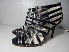 MICHAEL KORS - Tatianna - Size 7M - NWB -Black & Silver Leather - Strappy Sandal