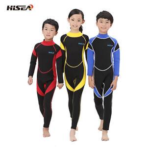 Boys Girls Hisea Full Length 3/2mm Wetsuit Junior Long 2.5mm Kids Surf Swimming