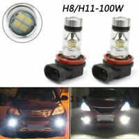 2X/6000K Luz Blanca H8/H11 LED High Power 100W LED Driving DRL Niebla Bombillass