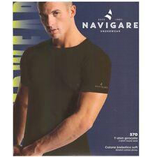 Navigare T-shirt Uomo Girocollo cotone Elasticizzato 570 Taglie assortite 6° - XL Nero