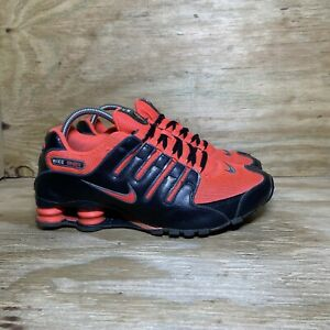 Nike Shox NZ Women's Running Shoes Size 10 Laser Crimson Red Black 636088-600