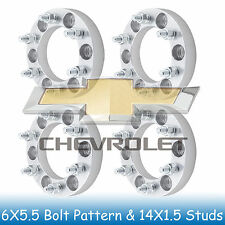 "1"" Chevy 6 Lug Wheel Spacers 6x5.5 6x139.7 Fits For Silverado 1500 1999 - 2015"
