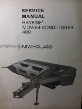 New Holland Sperry Trailer Pull Haybine Hay Mower Conditioner 489 Service Manual