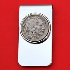US 1938 Indian Head Buffalo Nickel 5 Cent Coin Stainless Steel Money Clip New