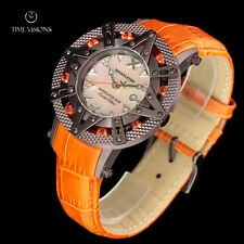 Xoskeleton 41mm Superlative Star LE Burnt Sienna Topaz MOP Leather Strap Watch