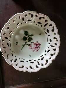 Antique French Luneville Faience Basket